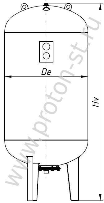 baa107b0 ... Расширительный бак для отопления Wester мембранный WRV 750-10000 размеры